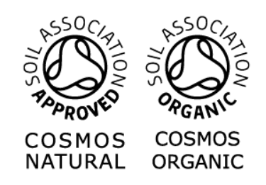 COSMOS Organic Natural, Soil Association Approved.